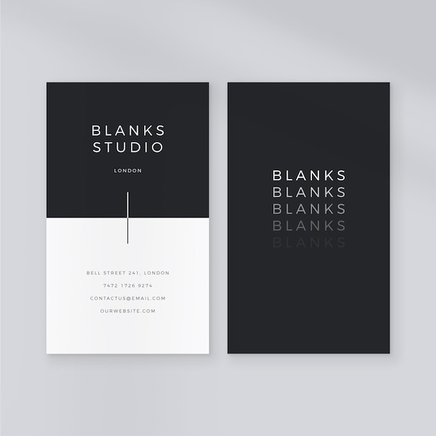 Free Vector Monochrome Business Card Template