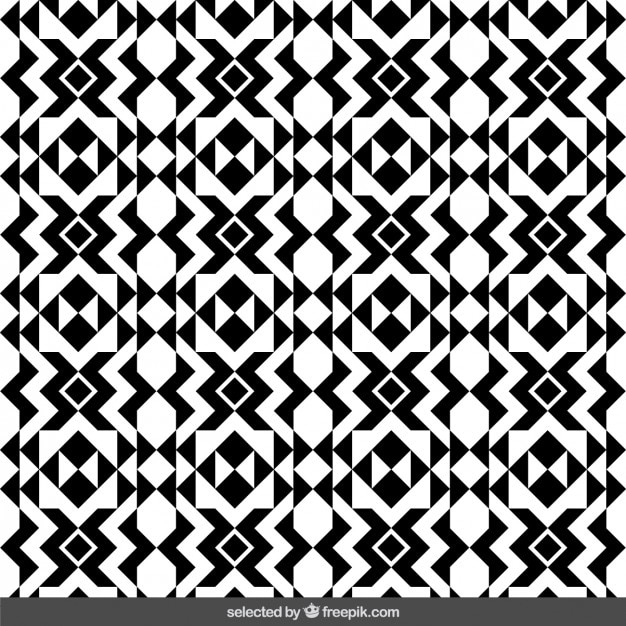 Monochrome geometric pattern Vector | Free Download