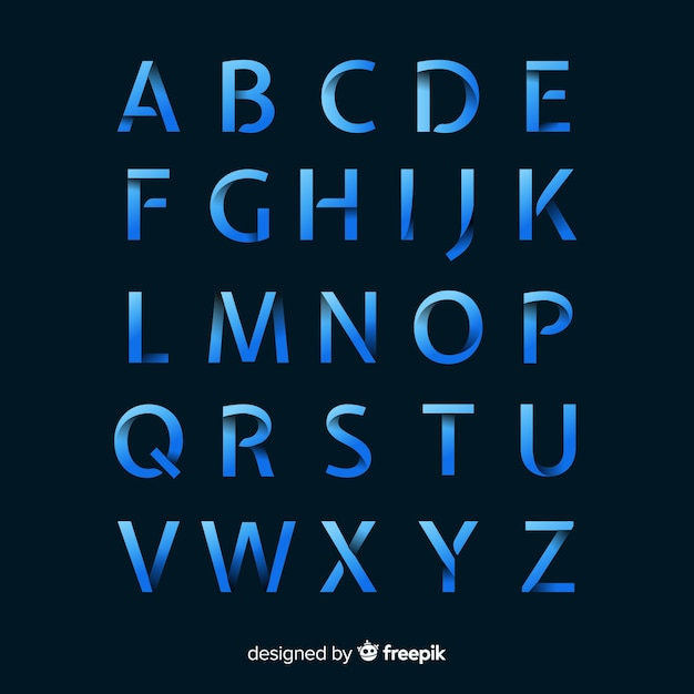 Monochrome gradient typography template Free Vector