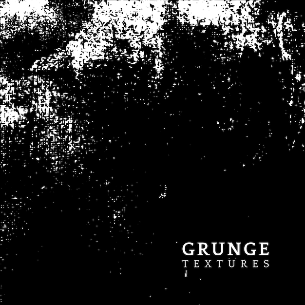 Monochrome grunge distressed texture vector Free Vector