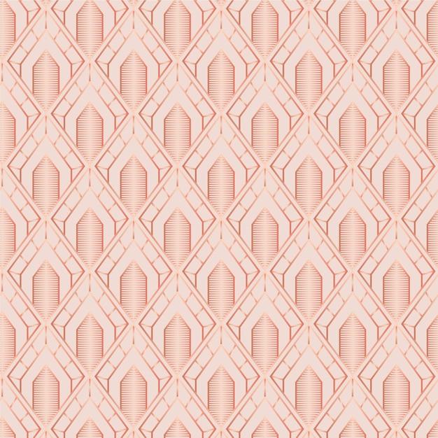 Monochrome light brownart deco seamless pattern Free Vector