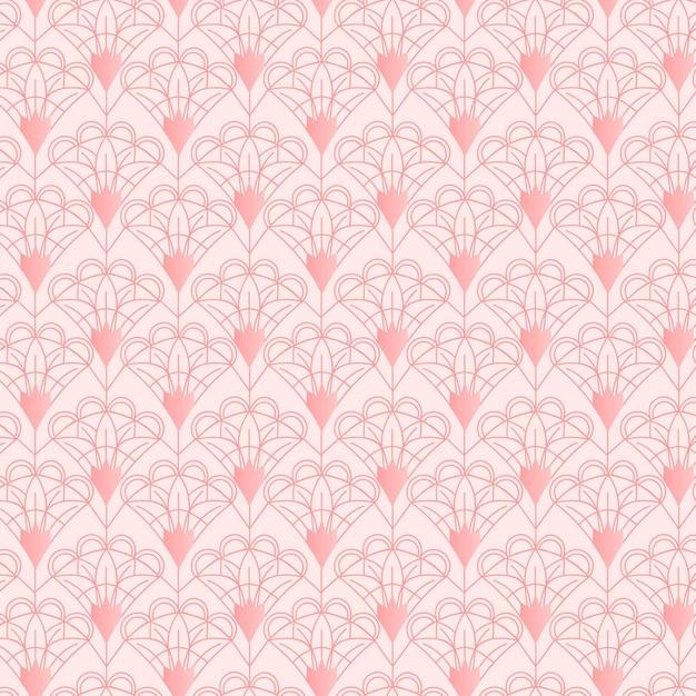 Monochrome pinkart deco seamless pattern Free Vector