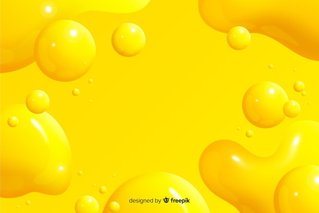 Monochrome realistic liquid effect background Free Vector