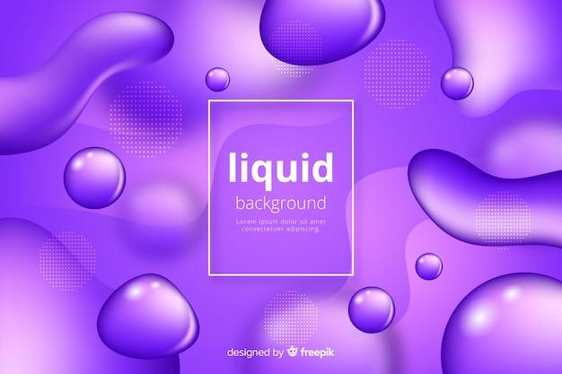Monochrome realistic liquid effect background Free Vector