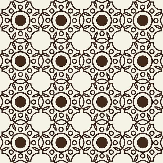 Pattern di sfondo senza soluzione di continuità monocromatica Vettore gratuito