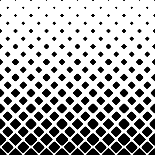 Monochrome square pattern background - geometric vector illustration Free Vector