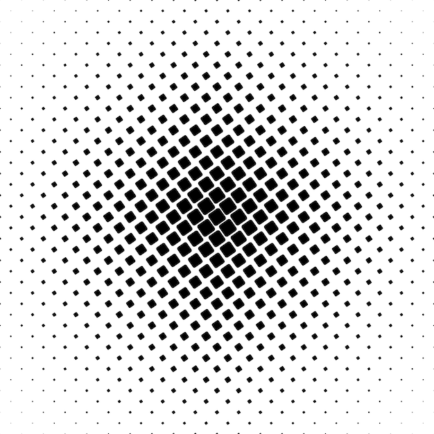 Monochrome square pattern - geometrical abstract background graphic from angular rounded squares Free Vector