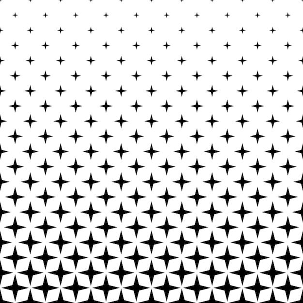 Монохромный звездный фон - абстрактный векторный фон из геометрических фигур Бесплатные векторы