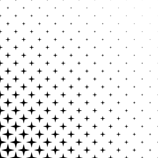 Monochrome Star Pattern   Vector Background Graphic Design From Geometric  Shapes Free Vector
