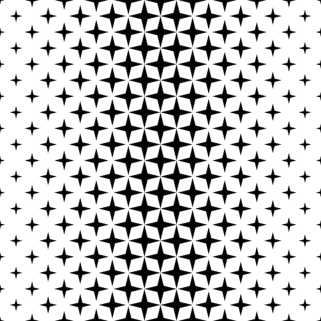 Marvelous Monochrome Star Pattern   Vector Background Free Vector