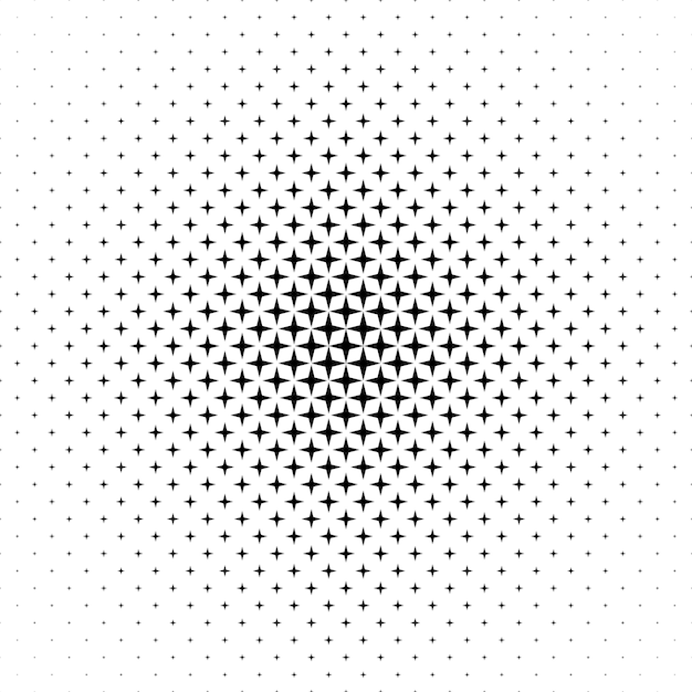 monochrome star pattern