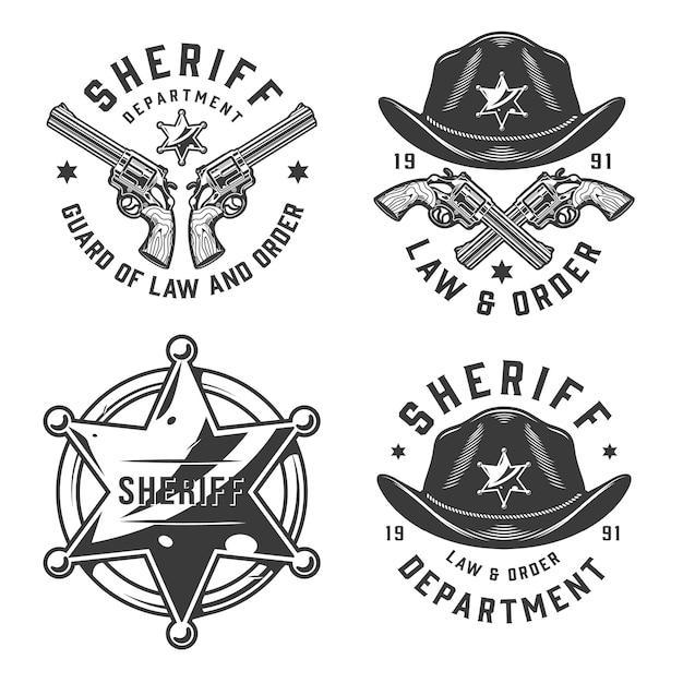 Monochrome vintage emblems Free Vector