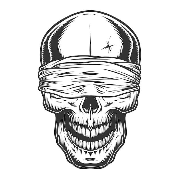 Cranio monocromatico vintage Vettore gratuito