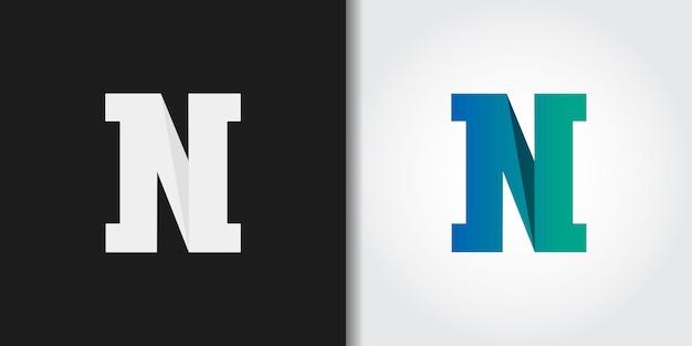 モノグラム頭文字nロゴ Premiumベクター