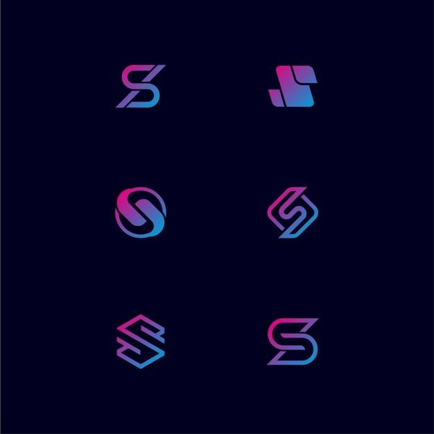 Monogram letter s logo design bundling Premium Vector