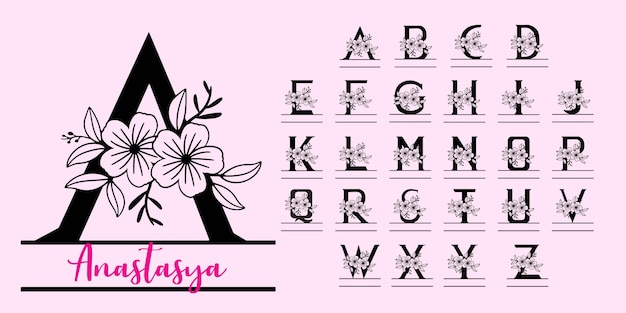 Monogram split letters Premium Vector