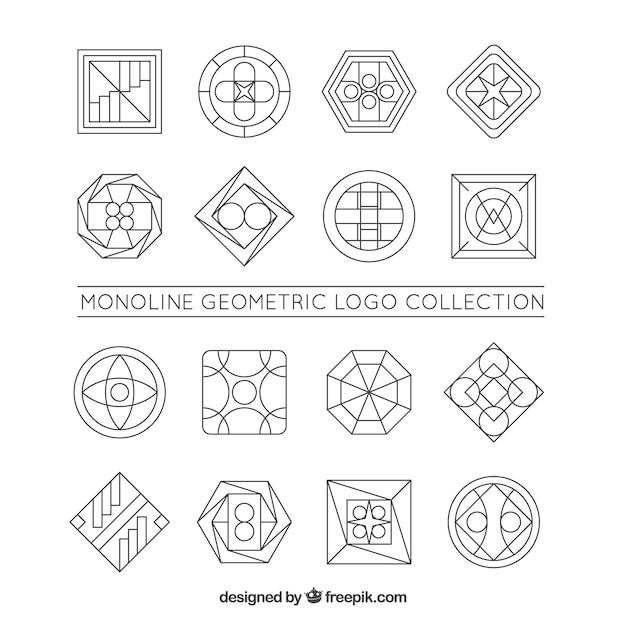 Большая коллекция логотипов monoline Бесплатные векторы