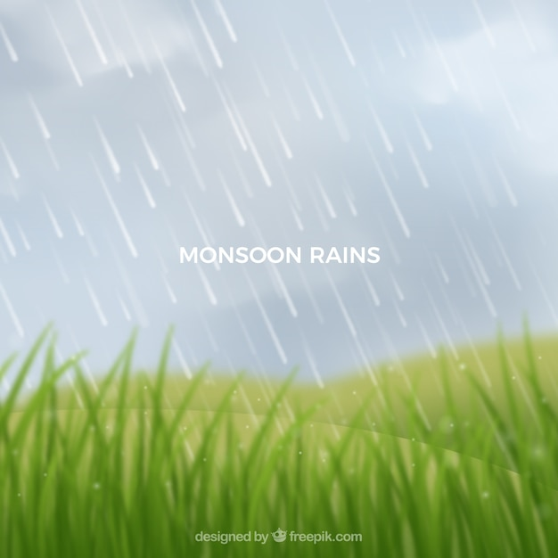 Monsoon season background with landscape