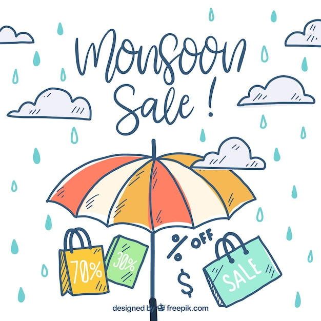 Monsoon season sale background