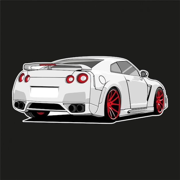 Monster car illustration Premium Vector