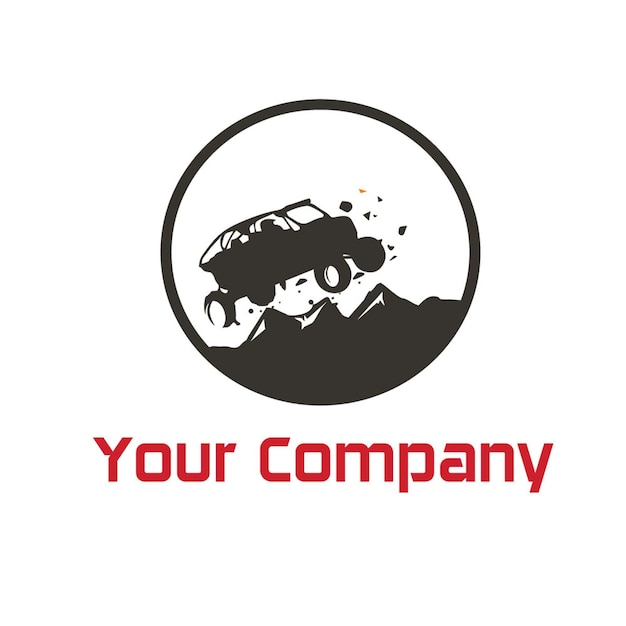 monster car logo vector vector premium download