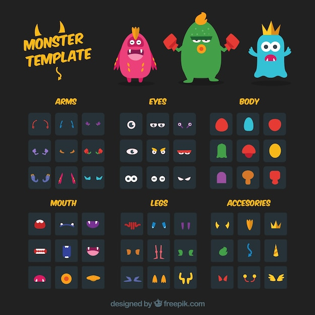 Template Monster Vectors Photos and PSD files – Monster Template