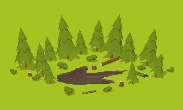 森の中のモンスターの足跡 Premiumベクター
