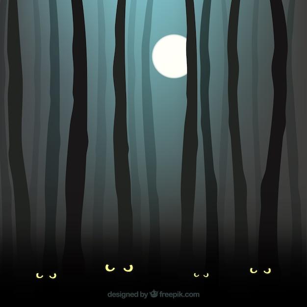 Forest background clipart dark