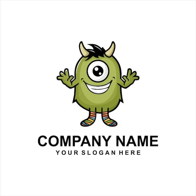monster logo vector vector premium download