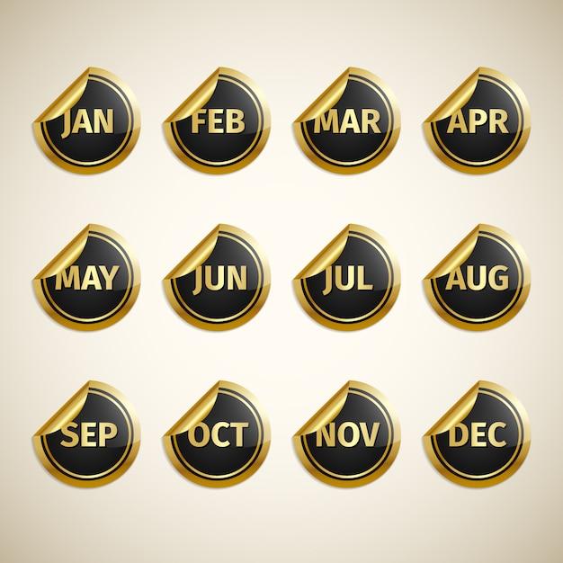 Month icon design Vect...