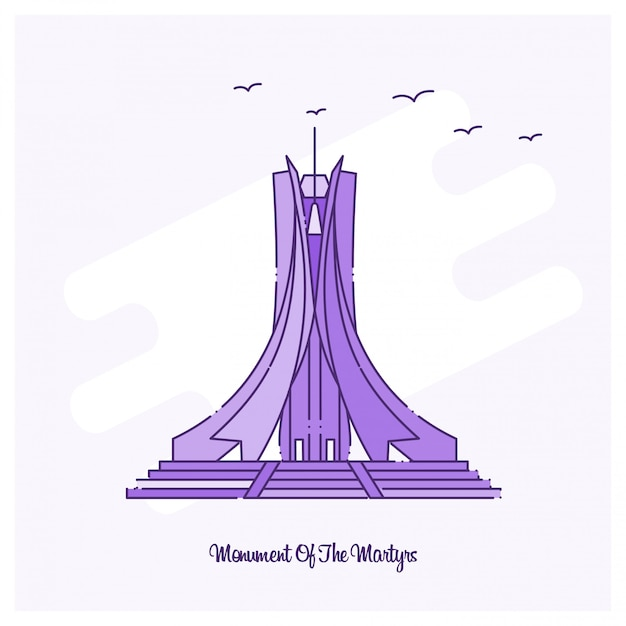 Monument of the martyrs Free Vector