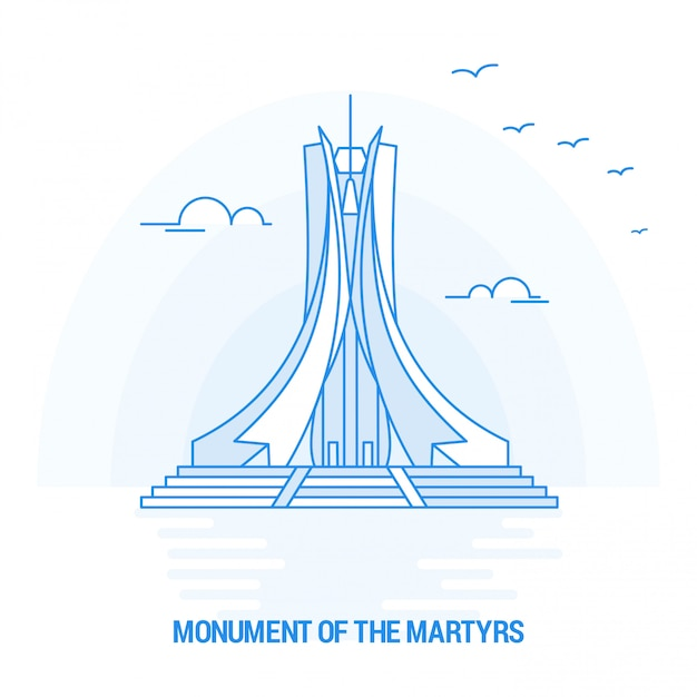 Monument of the martyrs Premium Vector
