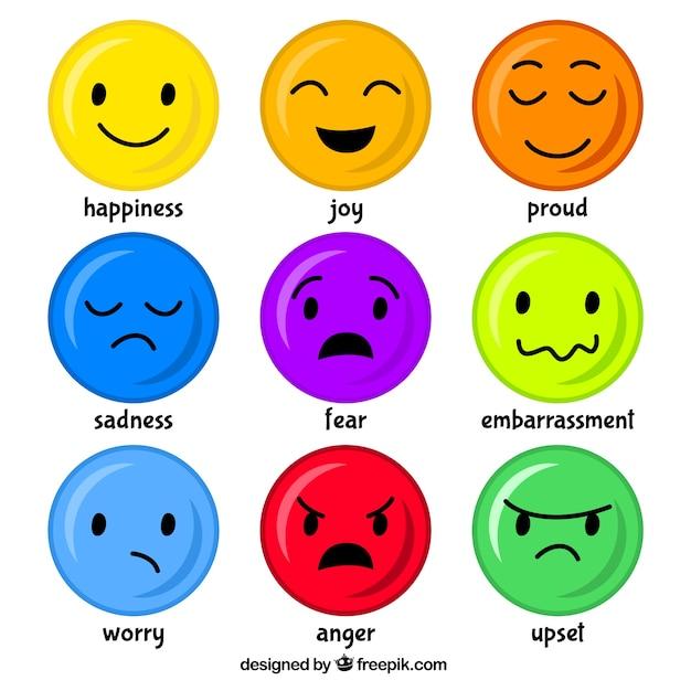 mood emoticons free vector