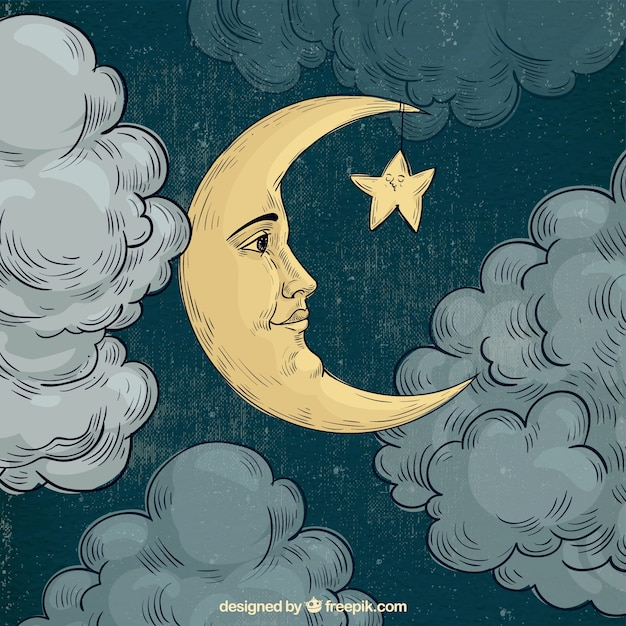 moon face background vector free download moon star vector free download full moon vector free download