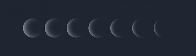 Moon lunar eclipse Premium Vector