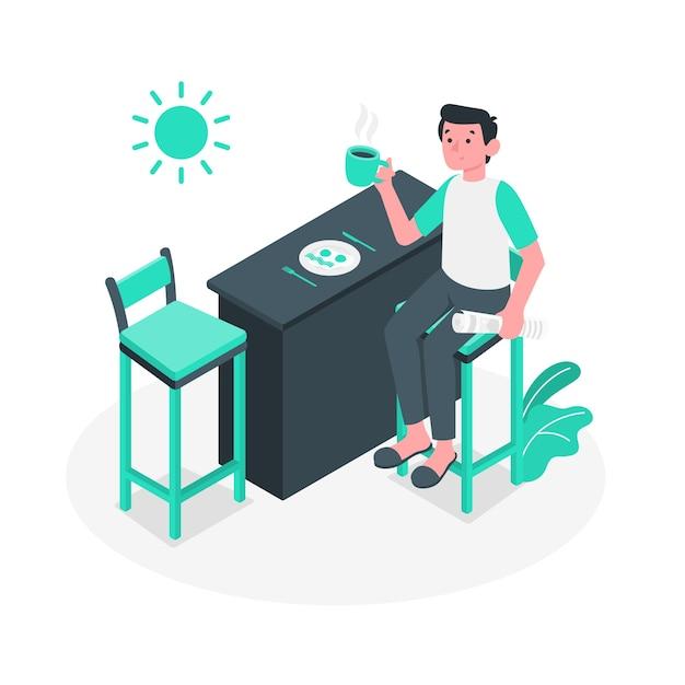Morning essentials concept illustration Free Vector