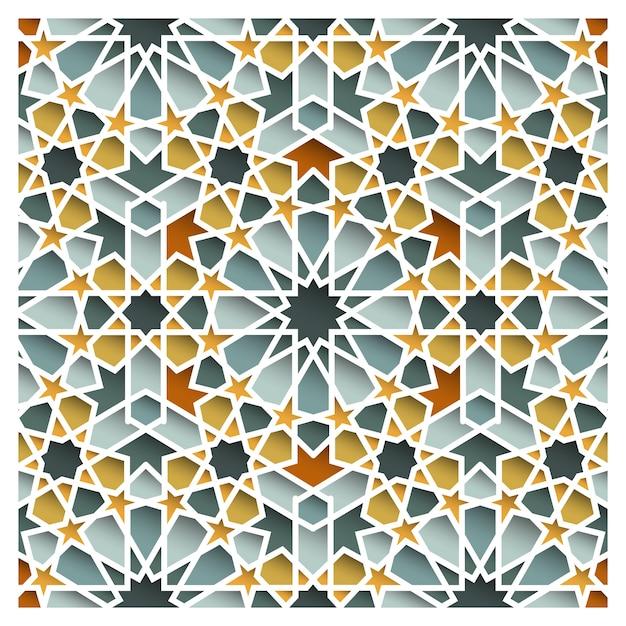 Марокканский восточный бесшовный образец Premium векторы