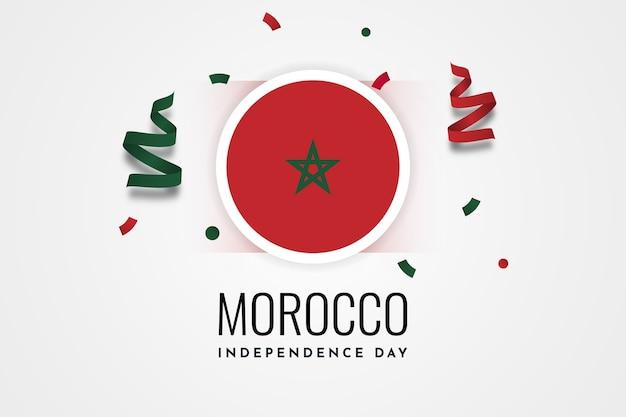 Дизайн шаблона иллюстрации празднования дня независимости марокко Premium векторы
