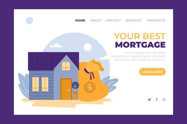 住宅ローンのランディングページのコンセプト 無料ベクター