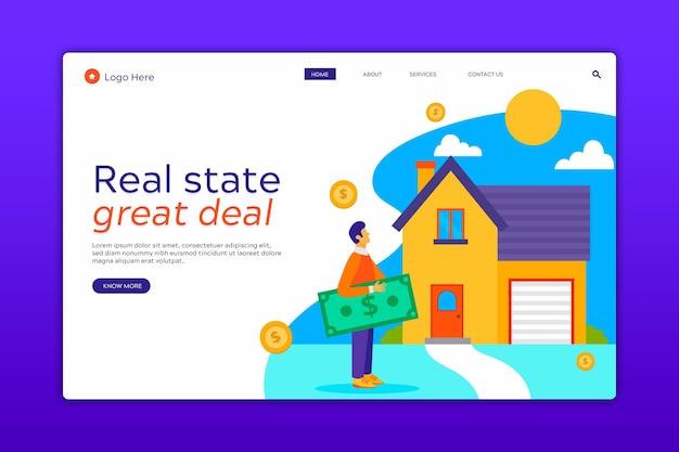 住宅ローンのランディングページ Premiumベクター