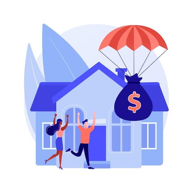 Concetto astratto di programma di rilievo di ipoteca Vettore gratuito