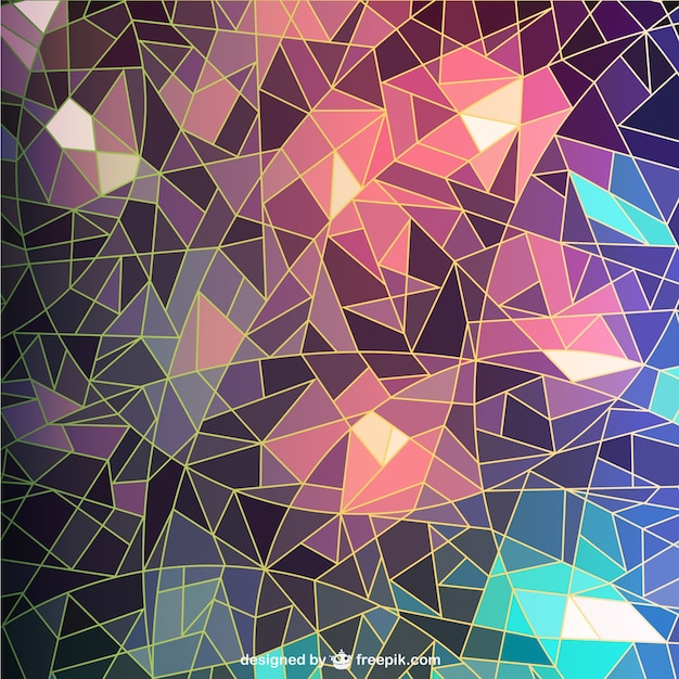 Mosaic Style Background Free Vector