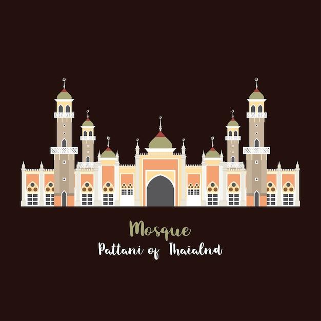 Mosque icon vector. Premium Vector