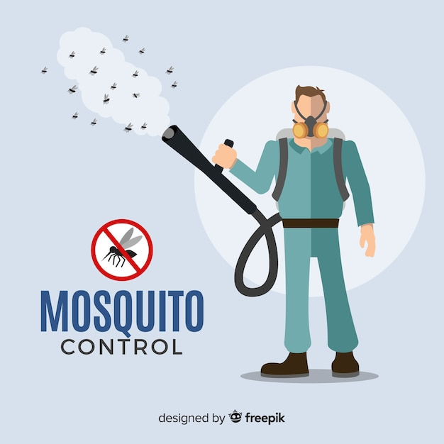 Mosquito control background Free Vector