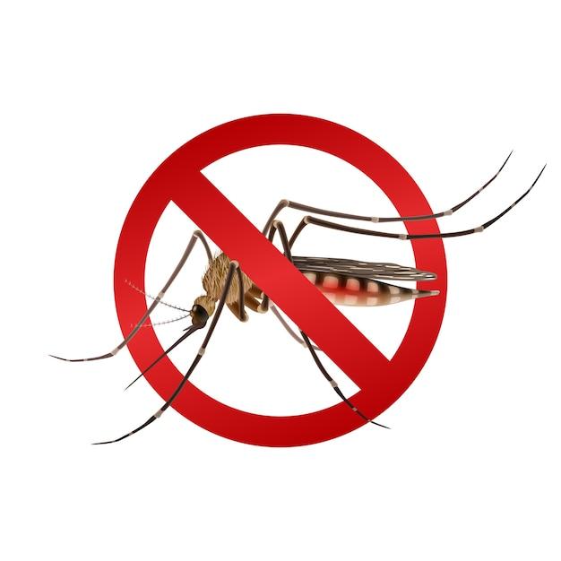 蚊の一時停止の標識 無料ベクター