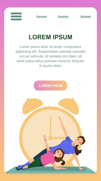 Mother and daughter engaged fitness sport training Free Vector