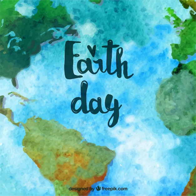 Mother earth day background with watercolor world map vector mother earth day background with watercolor world map free vector gumiabroncs Images