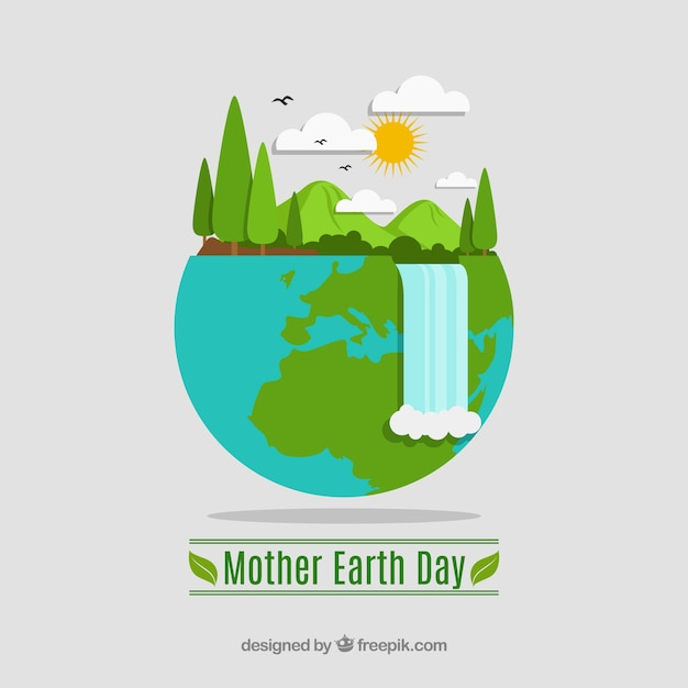 Mother earth day background Free Vector
