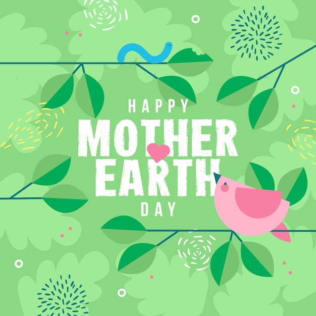Mother earth day celebration event design Free Vector
