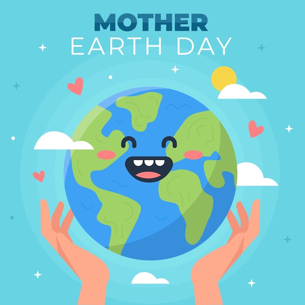 Mother earth day in flat design Free Vector